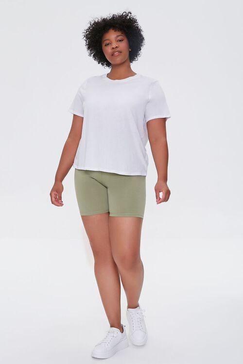 OLIVE Plus Size Basic Organically Grown Cotton Biker Shorts, image 5