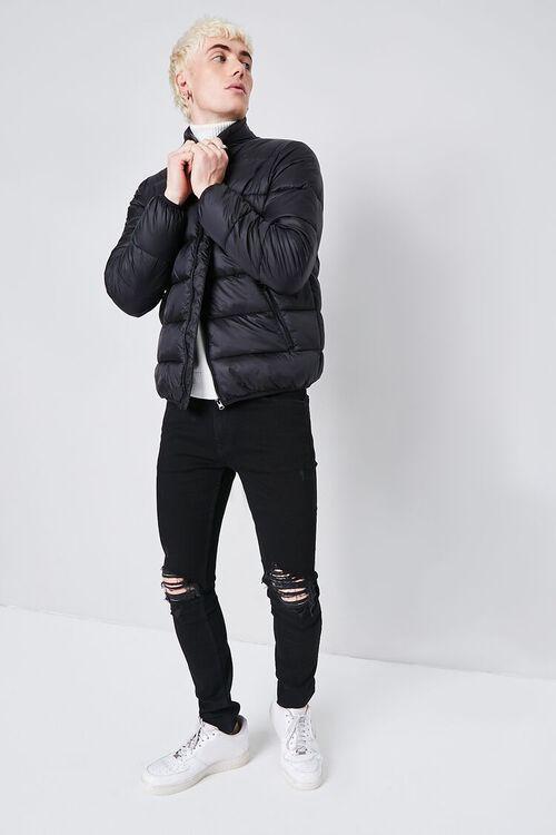 BLACK Premium Distressed Skinny Jeans, image 1