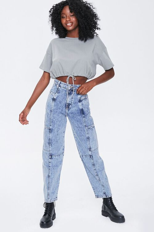 Relaxed Acid Wash Jeans, image 6