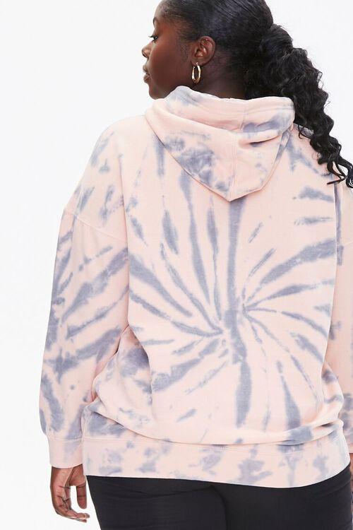 GREY/PINK Plus Size Tie-Dye Hoodie, image 4