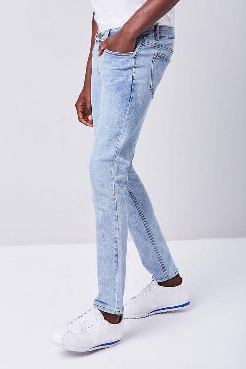 MEDIUM DENIM Stonewash Skinny Jeans, image 3