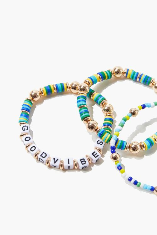Good Vibes Beaded Bracelet Set, image 2