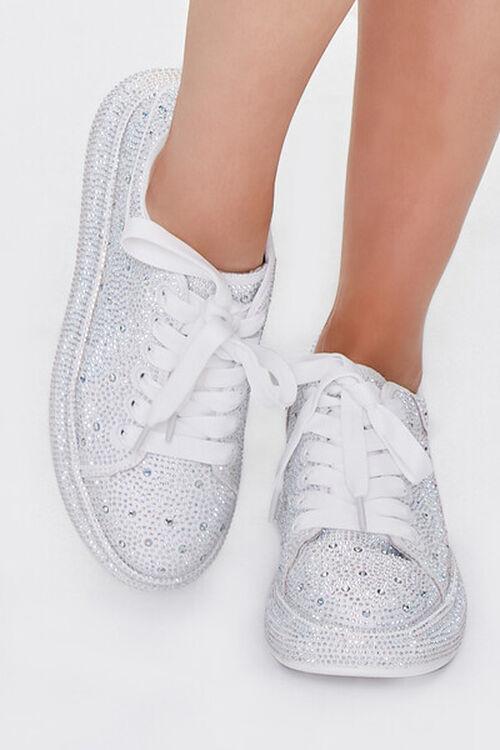Rhinestone-Embellished Low-Top Sneakers, image 4
