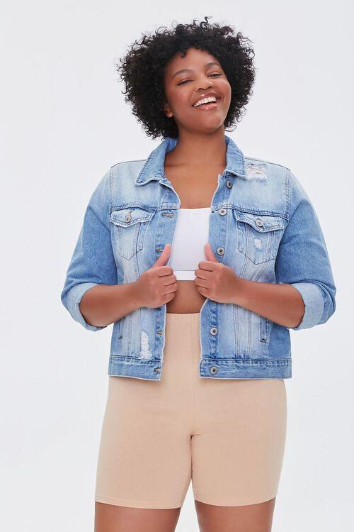 NUDE Plus Size Basic Organically Grown Cotton Biker Shorts, image 1