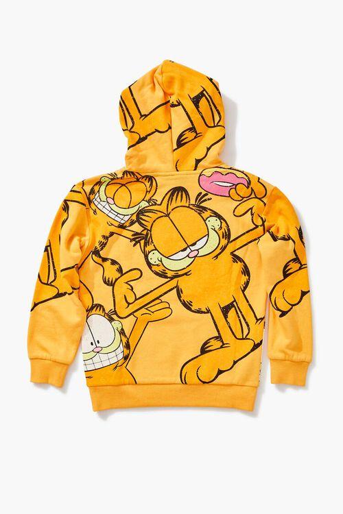 ORANGE/MULTI Girls Garfield Graphic Hoodie (Kids), image 2