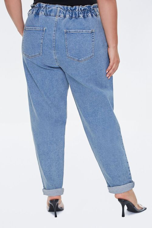 Plus Size Paperbag Ankle Jeans, image 4