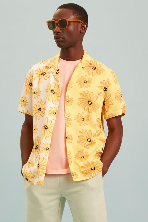 YELLOW/MULTI Classic Fit Floral Print Shirt, image 7