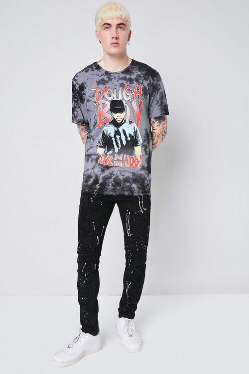 BLACK Paint Splatter Distressed Jeans, image 1