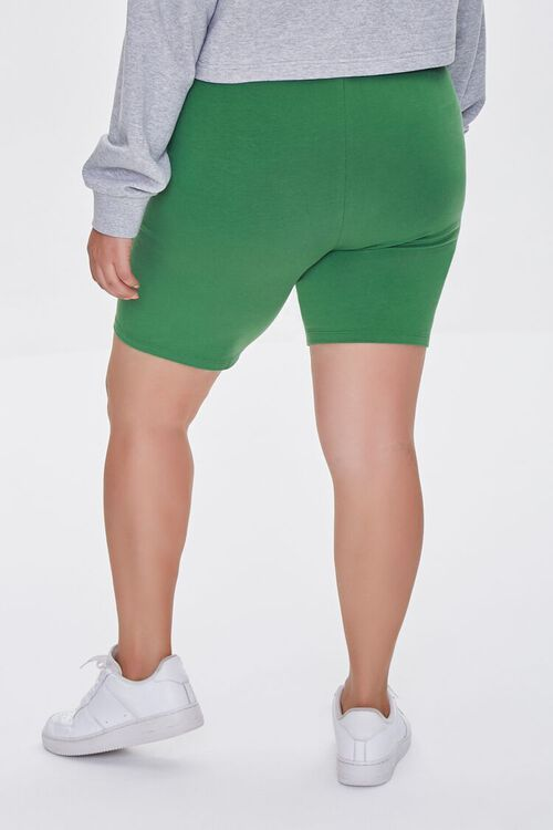 JUNIPER Plus Size Organically Grown Cotton Basic Biker Shorts, image 4