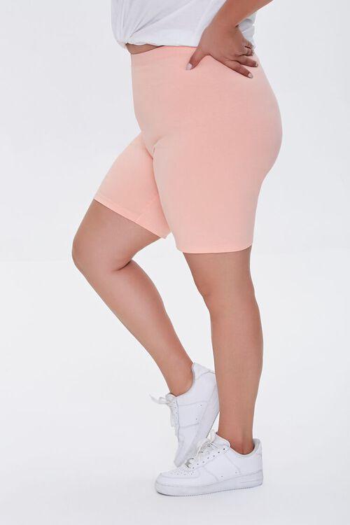 APRICOT Plus Size Organically Grown Cotton Biker Shorts, image 3