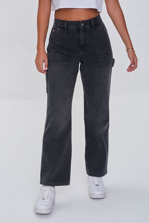 High-Rise Cargo Jeans, image 2
