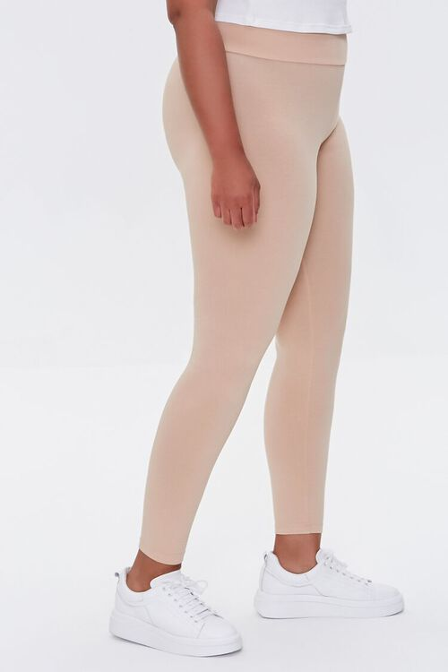 NUDE Plus Size Basic Organically Grown Cotton Leggings, image 3