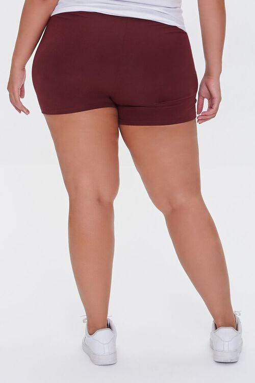 WINE Plus Size Basic Organically Grown Cotton Hot Shorts, image 4