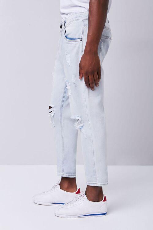 LIGHT DENIM Distressed Straight-Leg Ankle Jeans, image 3
