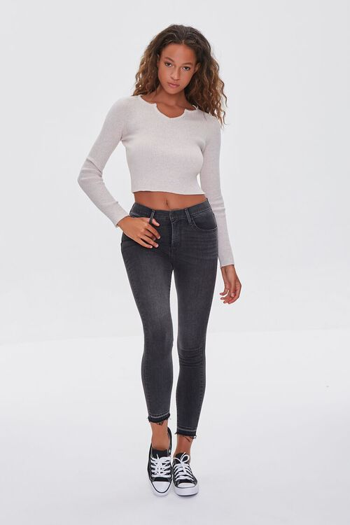 Ribbed Sweater-Knit Crop Top, image 4