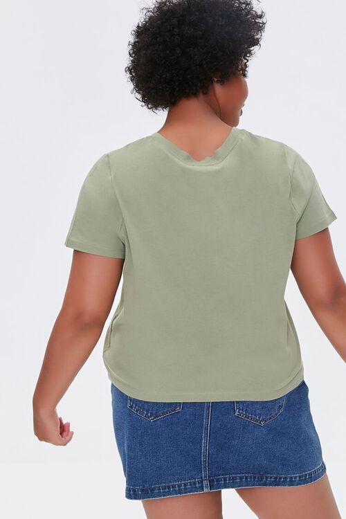 OLIVE Plus Size Basic Organically Grown Cotton Tee, image 3