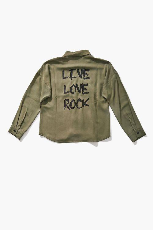 GREEN Girls Live Love Rock Shirt (Kids), image 1