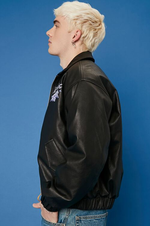 Hot Wheels Graphic Faux Leather Jacket, image 3