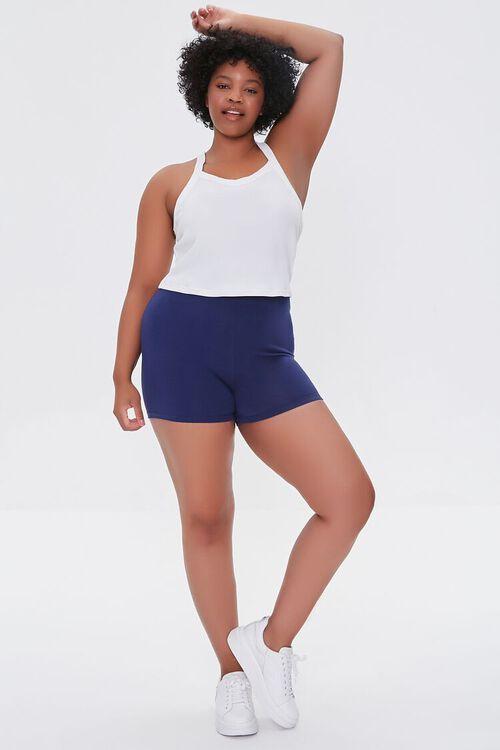 Plus Size Basic Organically Grown Cotton Hot Shorts, image 5