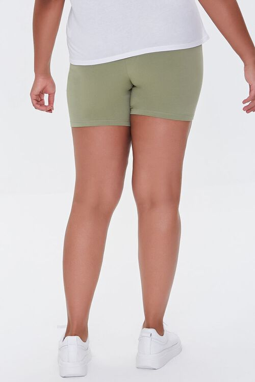 OLIVE Plus Size Basic Organically Grown Cotton Biker Shorts, image 4