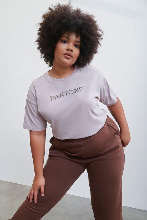 GREY Plus Size Embroidered Pantone Crew Tee, image 1