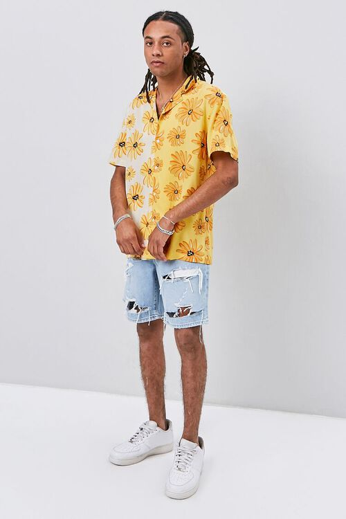 YELLOW/MULTI Classic Fit Floral Print Shirt, image 5