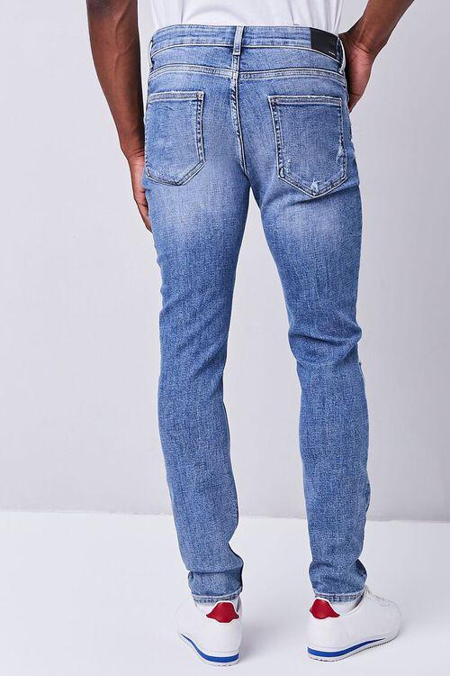 MEDIUM DENIM Distressed Slim-Fit Jeans, image 4