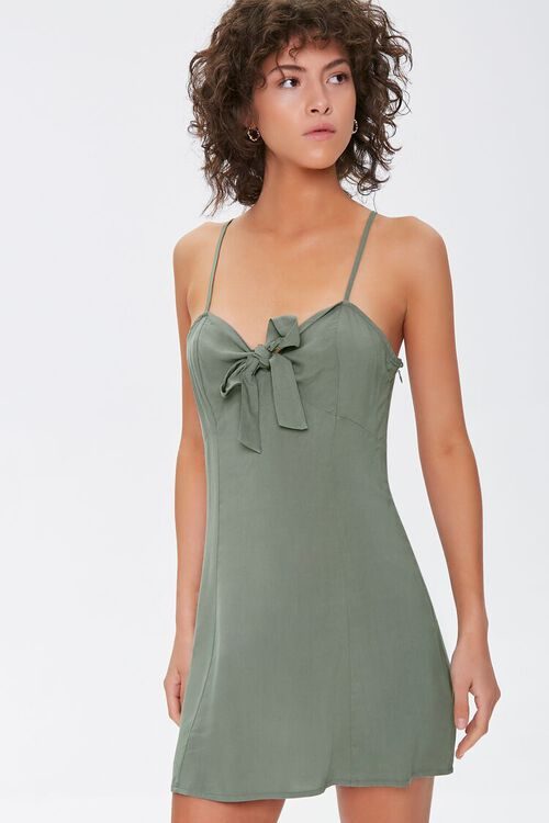 Knotted Bow-Front Cami Mini Dress, image 1