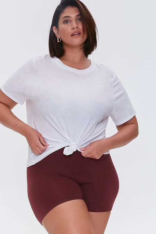 WINE Plus Size Basic Organically Grown Cotton Hot Shorts, image 1