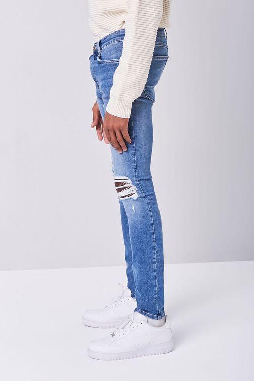 MEDIUM DENIM Premium Distressed Skinny Jeans, image 3