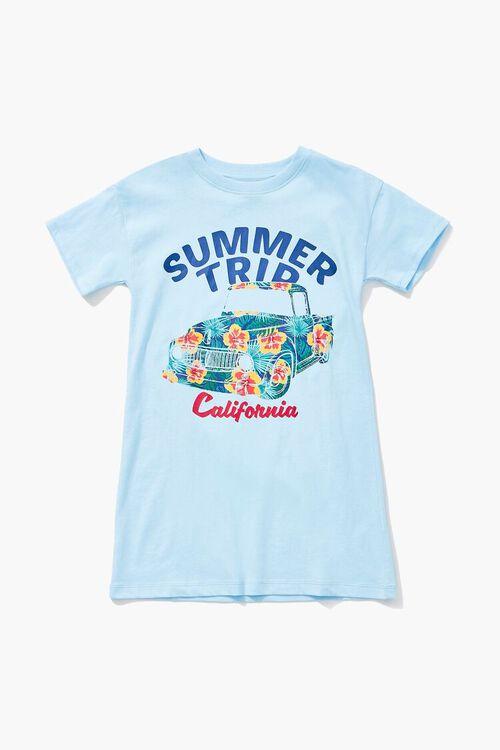 Girls Summer Trip Graphic T-Shirt Dress (Kids), image 1