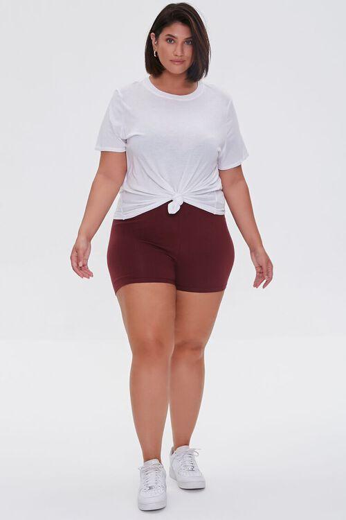 WINE Plus Size Basic Organically Grown Cotton Hot Shorts, image 5