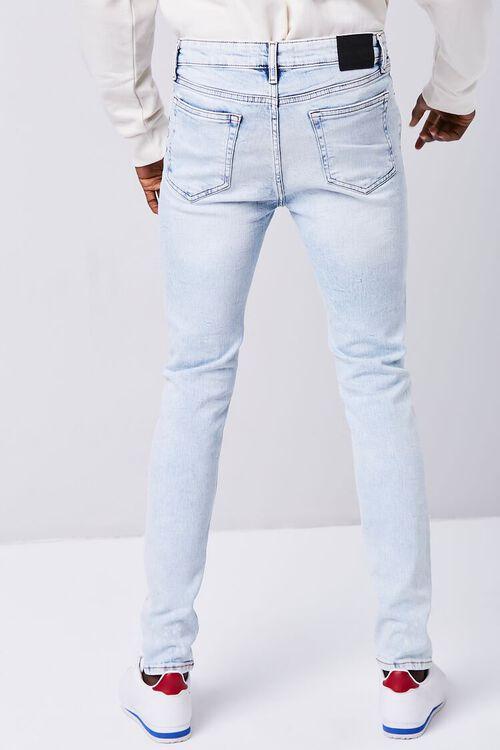 LIGHT DENIM Premium Paint Splatter Skinny Jeans, image 4
