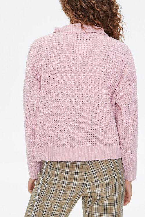 BLUSH Open-Knit Half-Zip Sweater, image 3