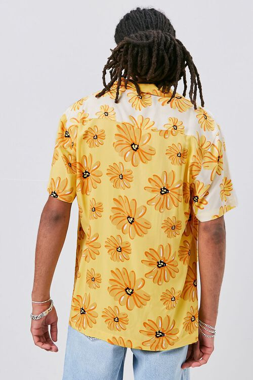 YELLOW/MULTI Classic Fit Floral Print Shirt, image 4