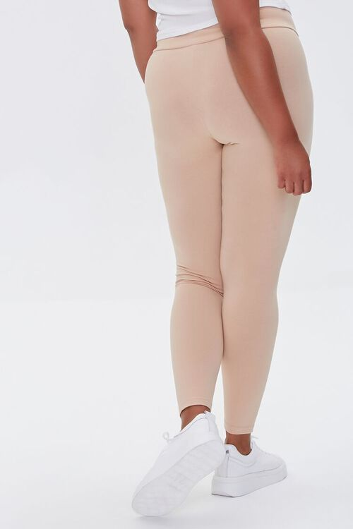 NUDE Plus Size Basic Organically Grown Cotton Leggings, image 4