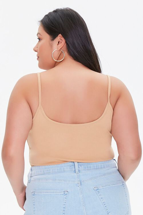 NUDE Plus Size Basic Organically Grown Cotton Bodysuit, image 3