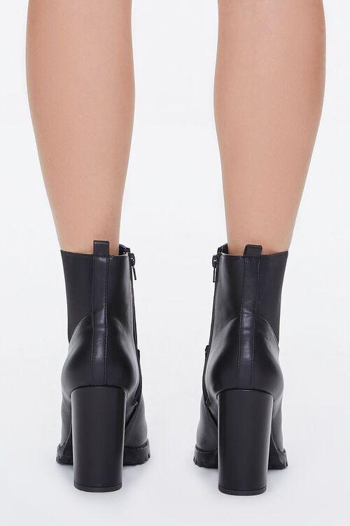 Faux Leather Block Heel Chelsea Booties, image 4
