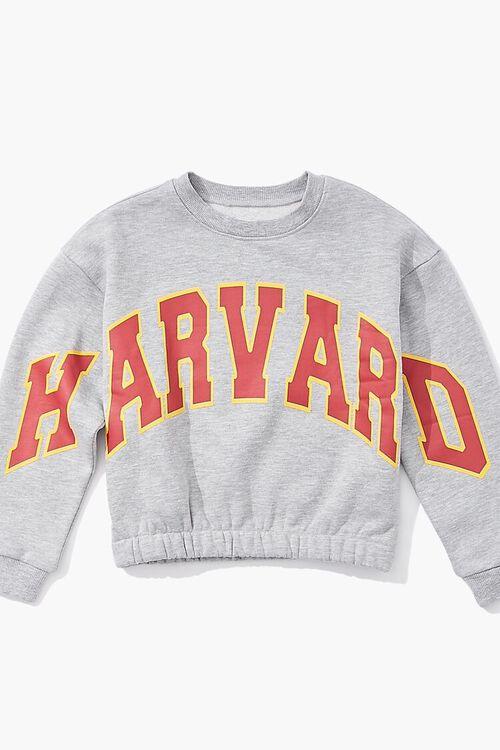 HEATHER GREY/MULTI Girls Harvard Graphic Pullover (Kids), image 3