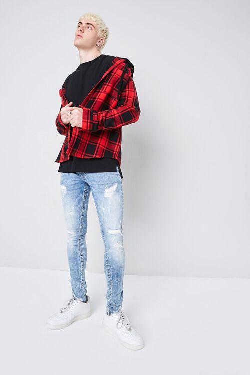 LIGHT DENIM XRay Distressed Stonewash Jeans, image 1