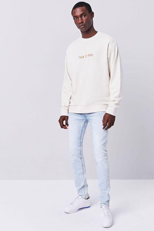 LIGHT DENIM Premium Paint Splatter Skinny Jeans, image 1
