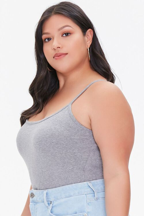 GREY Plus Size Basic Organically Grown Cotton Bodysuit, image 2