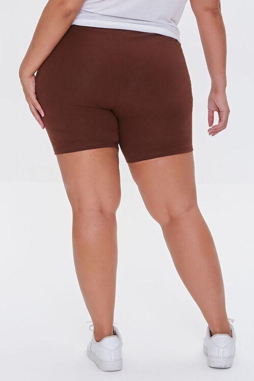 CHOCOLATE Plus Size Organically Grown Cotton Biker Shorts, image 4