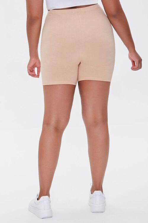 NUDE Plus Size Basic Organically Grown Cotton Biker Shorts, image 4
