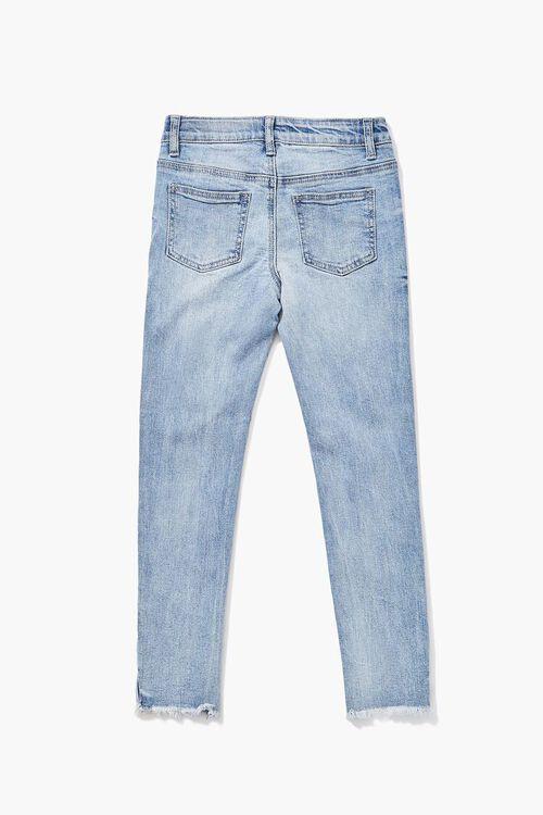 Girls Distressed Frayed Jeans (Kids), image 2
