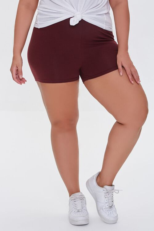 WINE Plus Size Basic Organically Grown Cotton Hot Shorts, image 2