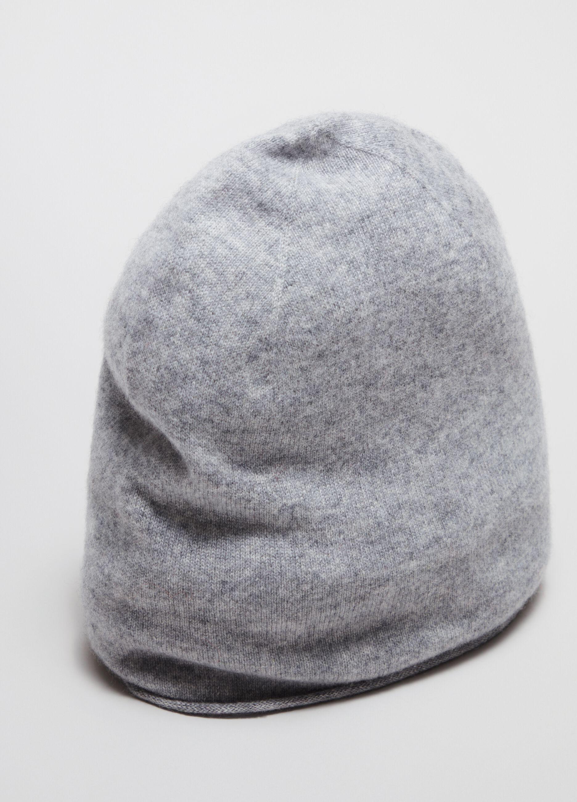 100% cashmere cap Grey