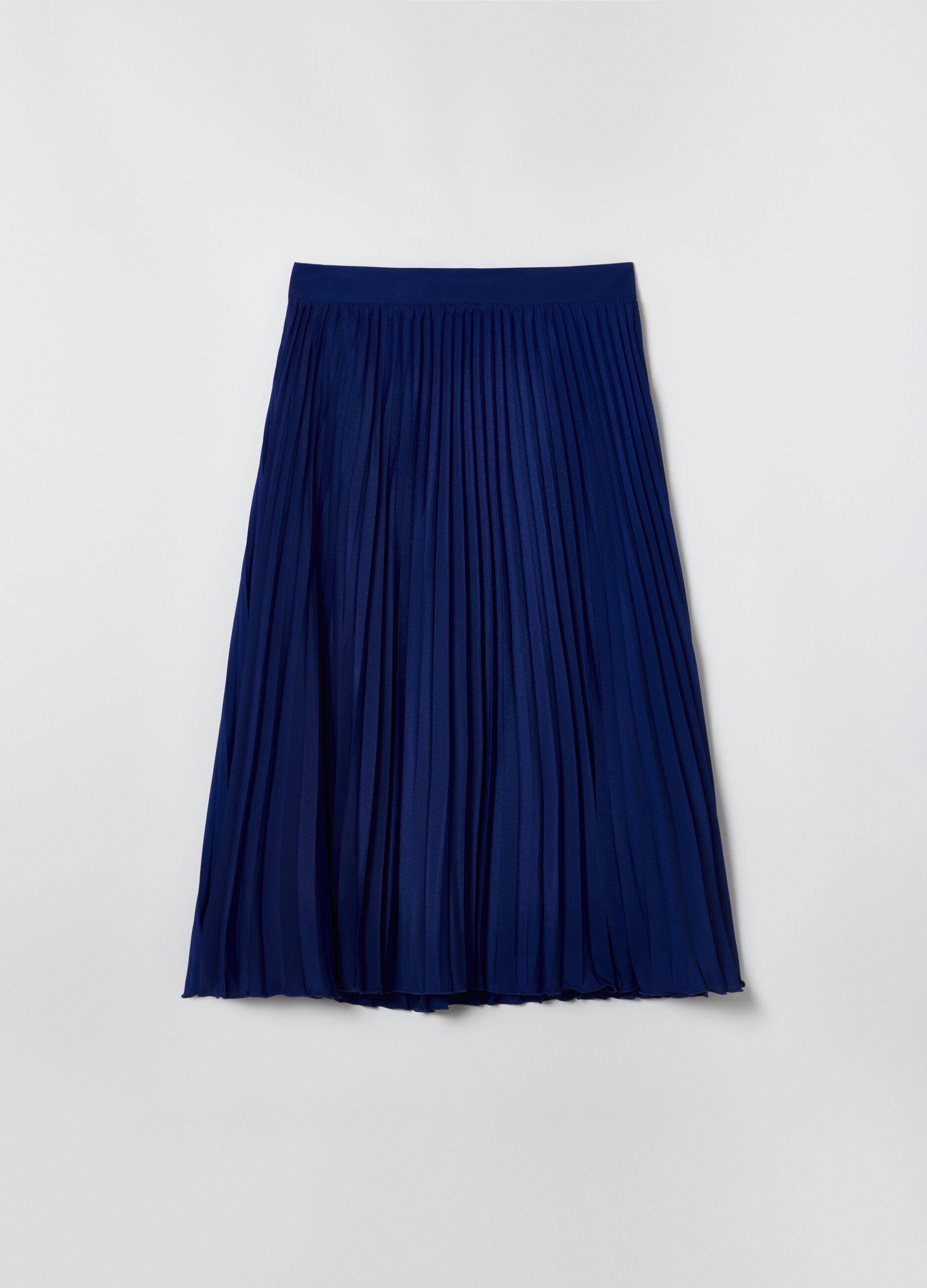Gonna midi plissettata Blu