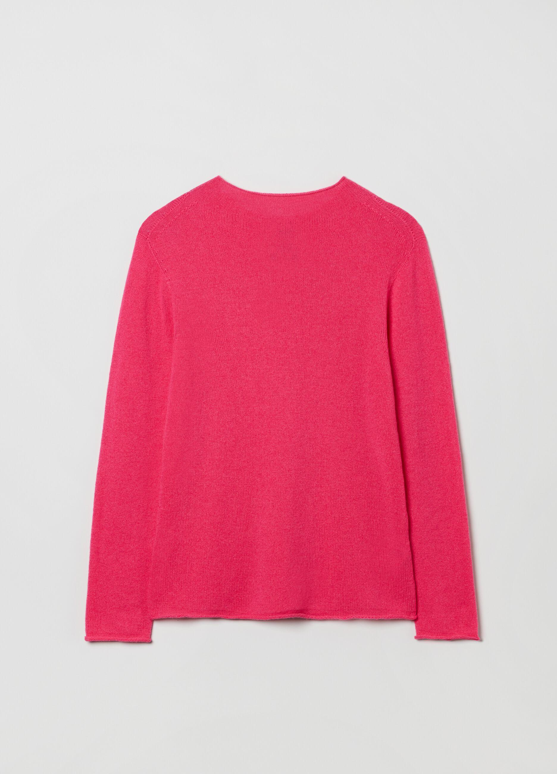 Pullover in puro cachemire seamless Rosa
