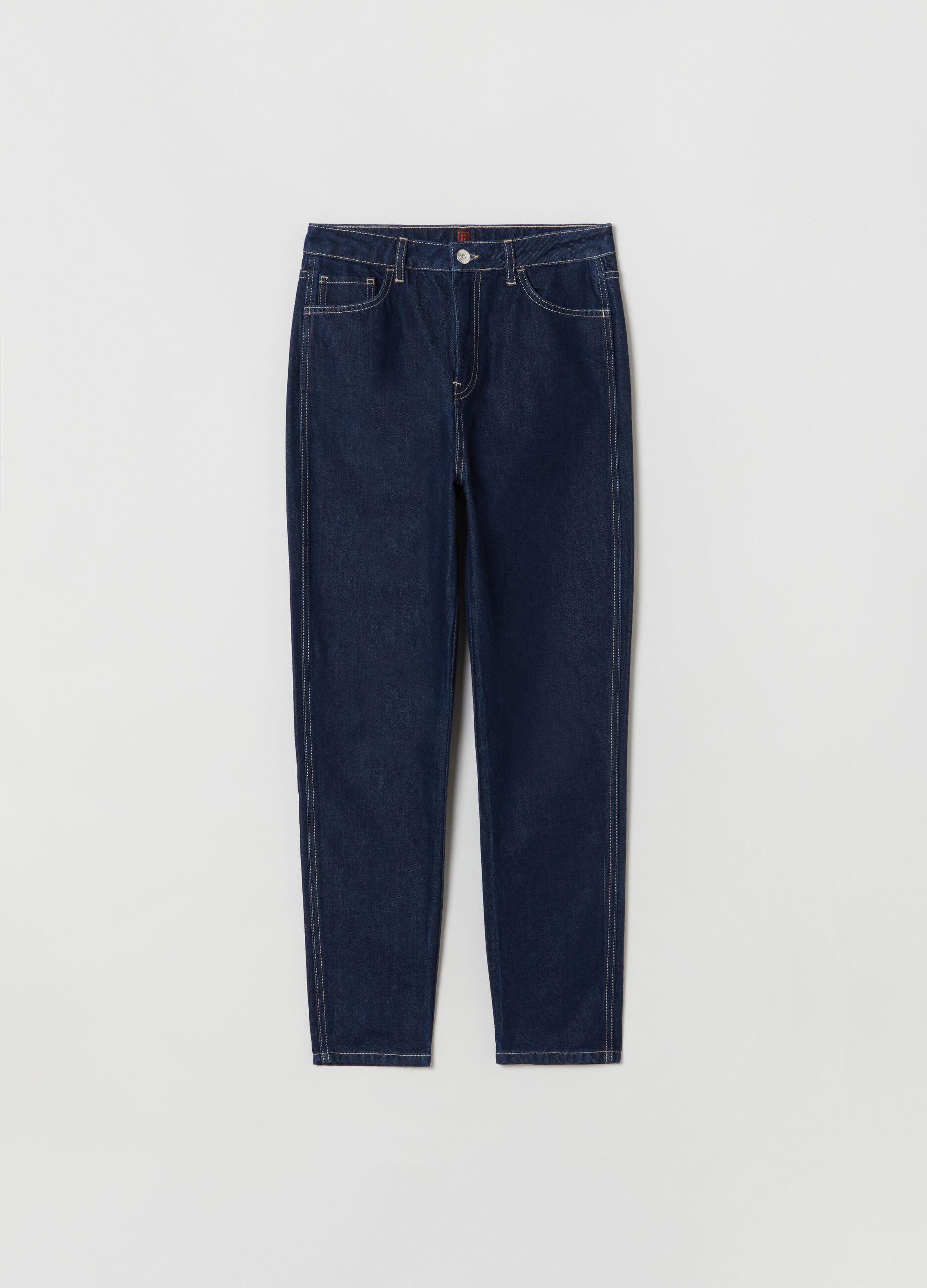 Jeans slim fit in cotone e Lyocell Denim